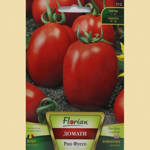 Семена на домати Рио Фуего - апетитен сорт за консерва